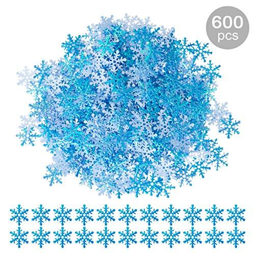 Gwhole 600 X Konfetti Schneeflocken Blau Weihnachten Tisch Deko Basteln Diy