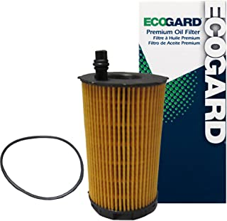 ECOGARD X5843 Cartridge Engine Oil Filter for Conventional Oil - Premium Replacement Fits Audi A8 Quattro, S5, Q7, R8, RS5, A6 Quattro, RS4, S6, S8 / Volkswagen Touareg