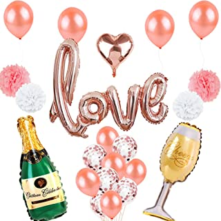 XIANG Romantic Aluminum Foil Balloon Set for Wedding Party Scene Props Home Decor Rose Gold