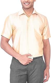 MARK ANDERSON Men's Raw Silk Light Gold Shirt
