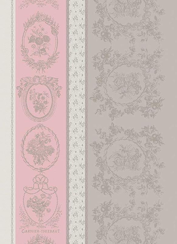 Garnier Thiebaut Lysandra Rose French Jacquard Kitchen Tea Towel 100 Cotton