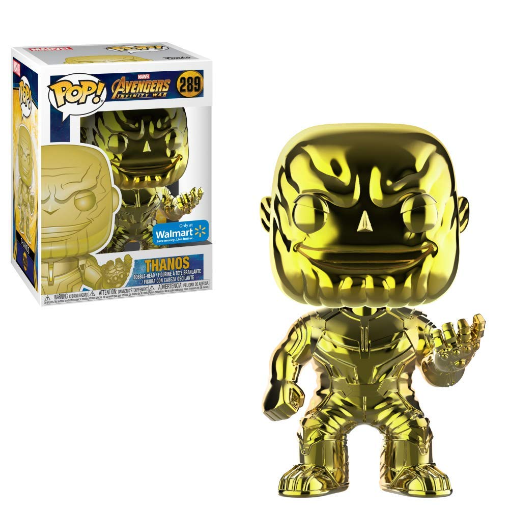 Avengers Funko POP Marvel: Infinity War - Thanos - Yellow Chrome - Walmart Exclusive