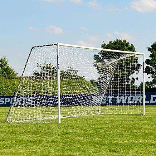 FORZA Alu60 Soccer Goal (16ft x 7ft) (Single or Pair) (Optional Target Sheet) – Super Strong Aluminum Soccer Goal Perfect for Mini Soccer [Net World Sports] (Single Goal & Target Sheet)
