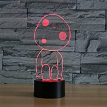 3D Cartoon Image Night Light Touch Table Desk Optical Illusion Lamps 7 Color Changing Lights Home Decoration Xmas Birthday Gift