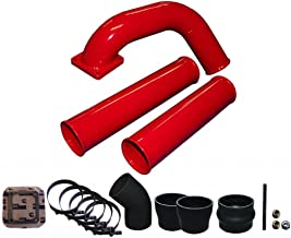Pusher Pre and Post Intercooler Intake System for Dodge Cummins 12v Gloss Red