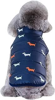 Fossrn Invierno Ropa Perro Pequeño Chihuahua Yorkshire Abrigo de Chaqueta Mascota Chaleco de Botón S~ XXL