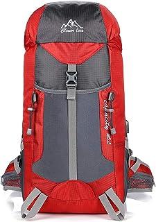 Mden Waterproof 45L Hiking Backpack Laptop Daypack USB Charging Port Reflective Design Travel Outdoors Backpacker Trekking Camping Climbing