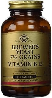 خميرة البيرة من سولجار، أقراص من حبوب 7½ وفيتامين بي 12، 250 قرصًا