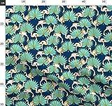 Origami, Flamingo, Sommer, Geometrisch, Tropen Stoffe -