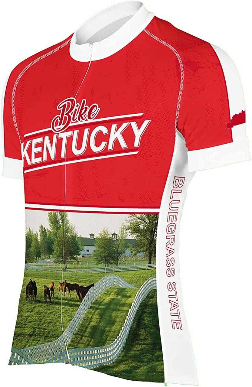 Kentucky RED New mail order Men's It is very popular Jersey Cycling