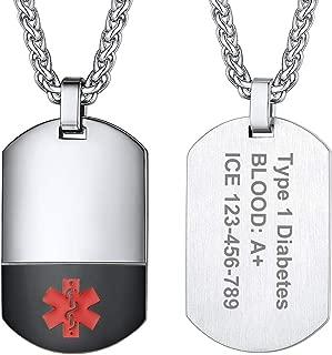 Hombre Plata Grabado Personalizado Etiqueta Cruz Colgante Cadena de Caja de Regalo de San Valentín