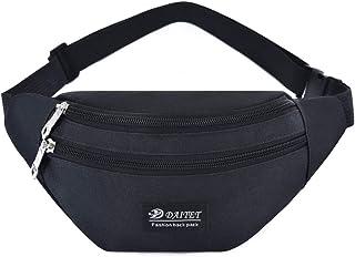 DAITET Fanny Pack for Men, Women, Kids, Waist Bag Adjustable Belt, Waterproof Travel Bag, Running Bag Black