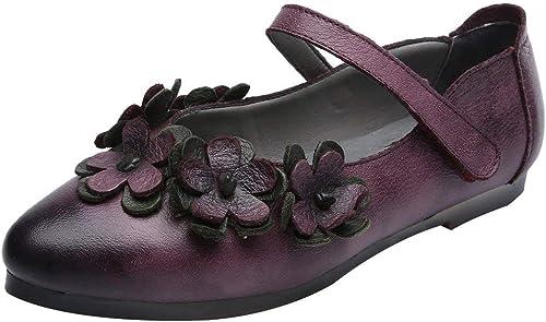Qiusa Chaussures à Semelle compensée pour Femme Femme en Cuir avec Bride à la Cheville (Couleuré   Violet, Taille   5.5 6 UK)  les ventes chaudes