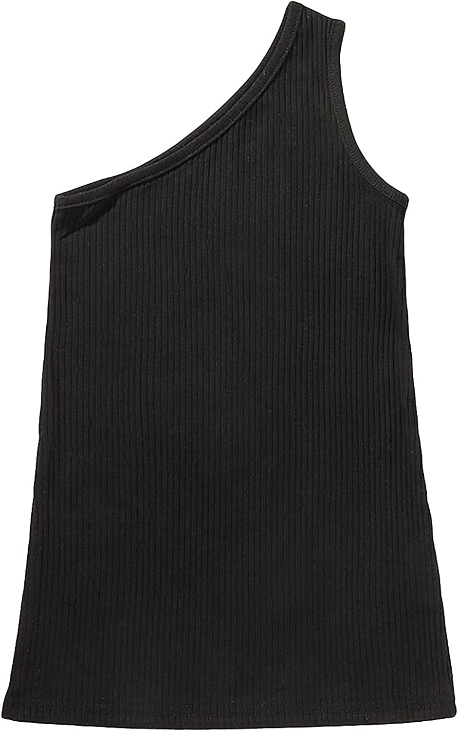 Arvbitana Toddler Baby Max 42% OFF 2021 autumn and winter new Girl Summer One Shoulder Ribbed Slee Vest