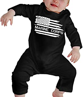 Baby Girl Bodysuits Maine State USA Flag Heart Toddler Jumpsuit