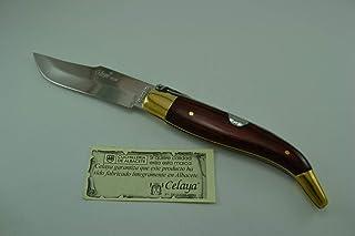 Couteau Celaya Classic Albacete Laiton Rouge Bois n 1