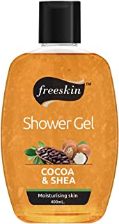 Freeskin Coco & Shea Body Wash Shower Gel 400ml, For Energizing your Senses & Diminish Darkened Areas, Suitable for All Sk...