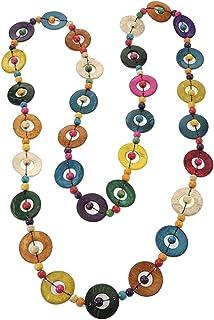 PRETYZOOM Collana Etnica Bohémien Lunga Collana di Perline Tonde Colorate Gioielli Fatti a Mano Vintage Boho per Donna Don...