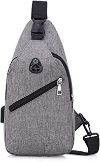 Outdoor Sport Lightweight Cross Body Shoulder Chest Bag for Man (Color : Gray, Size : S)