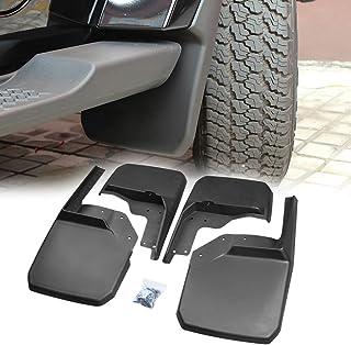 PROAUTO Jeep Wrangler JK Mud Flap/Splash Guard No-Drill Digital Fit Mud Flap for Wrangler JK 4WD, Wrangler Unlimited JK 4WD/2WD