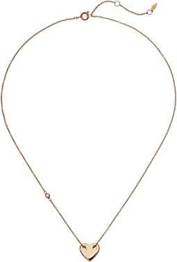 Fossil - Classic Heart Motif Chain Necklace