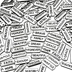 Package include: you will get 80 pieces word charms pendants, including twenty styles, enough quantities for you to make your own necklace or key chain Make your own:you can use all kinds of word pendants to make your own necklaces, bracelets, anklet...