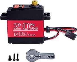 Miuzei 20KG Digital Servo, DS3218MG RC Servo Motor High Torque Servo Metal Gear..