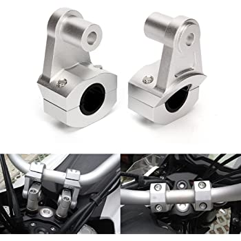 Zhuotop 2PCS//set 7//8 22 mm//28 MM Universale Manubrio Moto Fat Bar Riser Mount Morsetti