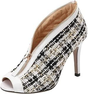 Melady Women Fashion Spring Shoes Peep Toe High Top