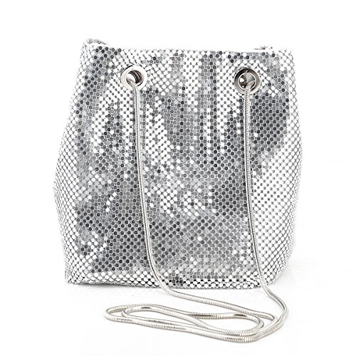 Design The party bag used the metal mesh material and matching special snake pattern metal shoulder chain Material The entire structure is made of the metal mesh material and durable polyester, the lining material is satin LINING Chain-Strap Detachab...