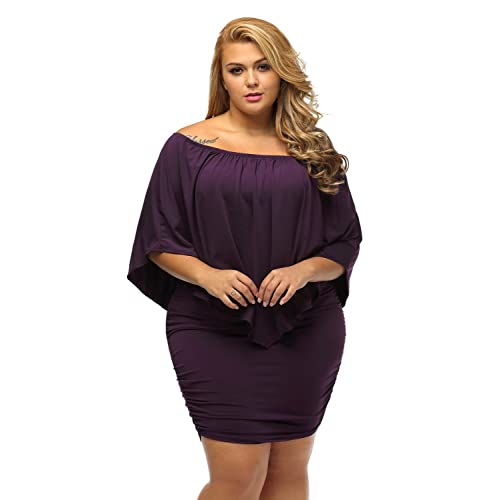 8c3ba371846f31 Miss Chica's Women's Off The Shoulder Ruffle Frill Mini Party Holiday Dress