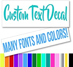 Custom Text Font Name Decal Sticker Compatible with Yeti Tumbler Cup, Laptop, Phones, Boats, and Vehicles (Glitter Colors ...