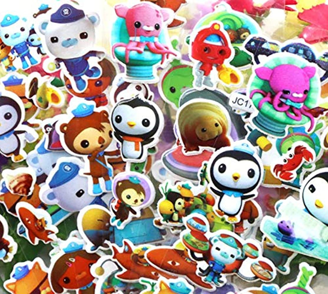 Astra Gourmet Over 300 Octonauts 3D Puffy Raised Decorative Stickers for Arts & Crafts, Scrapbooking, Party Favors(24 Sheets)
