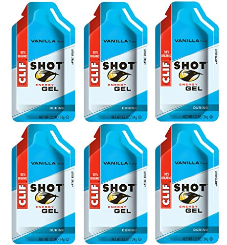 Clif Shot Gel  Vanilla  6 Pack 6 x 12oz Packs