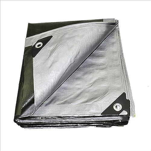 Pengbu MEIDUO Baches Bache, 2  2m, 2  3m, 2  4m, 2  5 m, 180 g m2, Résistant aux UV, Argent pour l'extérieur