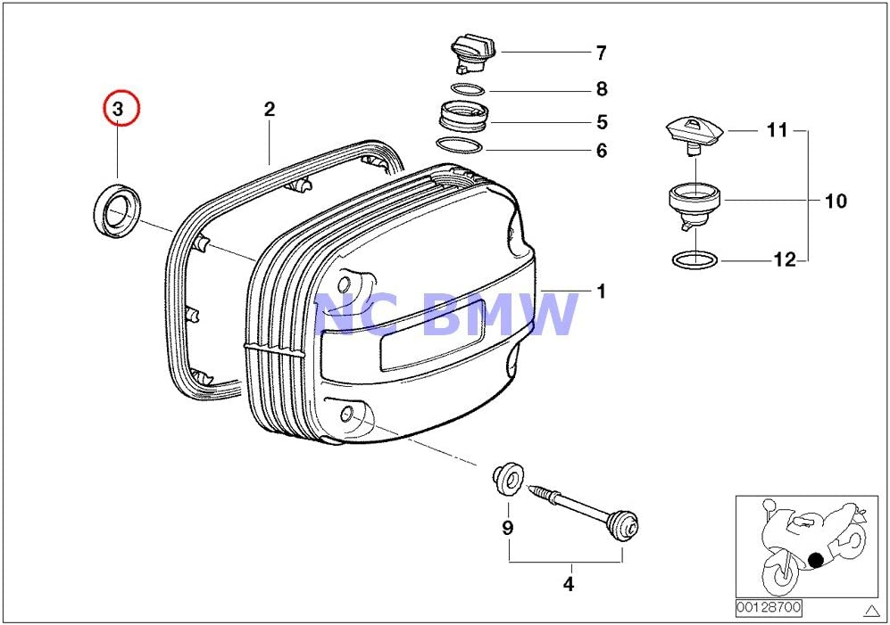 BMW Genuine Online limited product Motorcycle Cylinder High material Head Interior Gasket Cover R110
