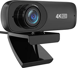 Full HD Webcam 4K, Automatic Facial Beautification Function(Upgrade),Live Streaming Camera with Stereo Microphone, Widescr...