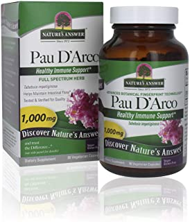 Nature's Answee Pau D'Arco Inner Bark | Supports Healthy Immune System | Helps Maintain Intestinal Flora | Alcohol-Free, G...