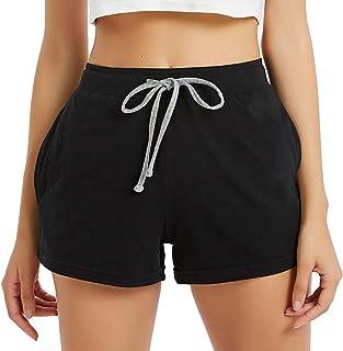 Sponsored Ad - HEARTNICE Womens Cotton Pajama Shorts, Soft Short Pants for Women Lightweight Lounge Sleep Pj Bottoms