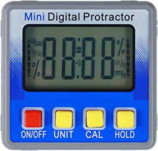 Suptools Digital Angle Finder-Magnetic Angle Gauge Mini-Precision Inclinometer Protractor with LCD and Backlight-4x90°Level Box Angle Finder