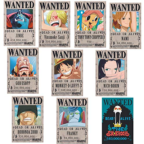 NONE One Piece Poster King Wanted Luffy 1.5 Billion Rew