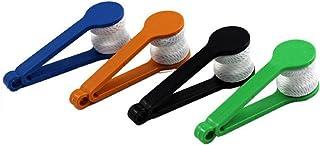 HUI JIN Lot de 5 nettoyants pour lunettes de soleil en microfibre