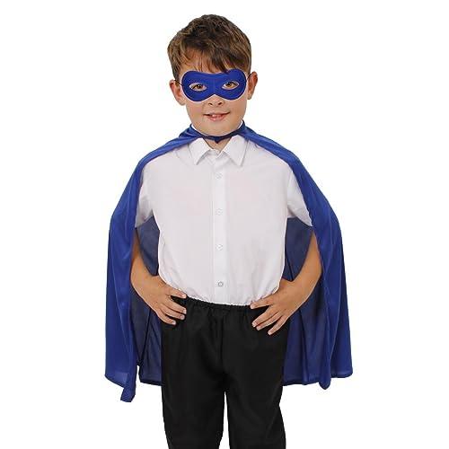 Girls Superhero Costume Fancy Dress Book Week Comic Kids Child Blue Super Hero