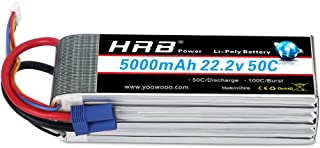 HRB 6S 5000mAh 22.2v 50C-100C RC Lipo Battery With EC5 Plug For DJI Airplane RC Quadcopter Helicopter Car Truck Boat Hobby