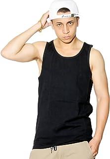 (ペレペレ) PELLE PELLE タンクトップ メンズ 大きいサイズ 無地 ヘビーウェイト 裾ロゴ刺繍 b系 ヒップホップファッション 2カラー