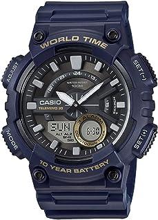 ساعة كاسيو اناديجي للرجال بسوار من البلاستيك المطاطي - AEQ-110W-2AVEF