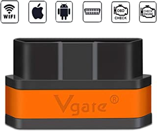 Vgate WiFi iCar2 OBDII Elm327 Code Reader for iOS iPhone iPad Android PC,Auto Sleep