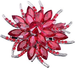 Fashion émail 6 Couleurs Nouveau Lily Mariage Broches Cristal Strass Fleur