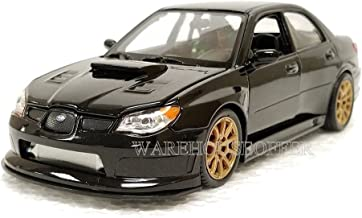 Welly New 1:24 Display Collection - Black 2005 Subaru Impreza WRX STI Diecast Model Car