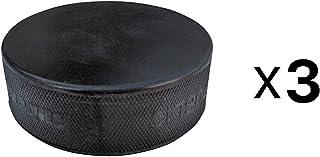 A&R Sports Ice Hockey Practice Pucks, Black - 3 Pack